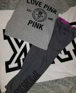 Sweat outfit vs pink